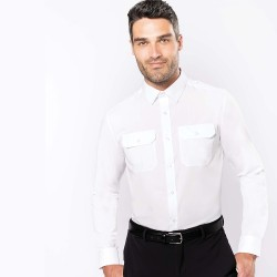 Chemise pilote manches longues homme - KARIBAN
