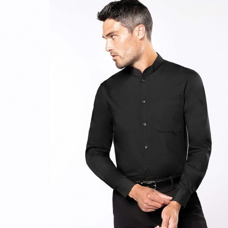 CHEMISE COL MAO MANCHES LONGUES - KARIBAN