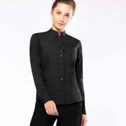 CHEMISE COL MAO MANCHES LONGUES FEMME - KARIBAN