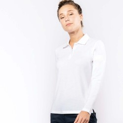 Polo manches longues femme kariban
