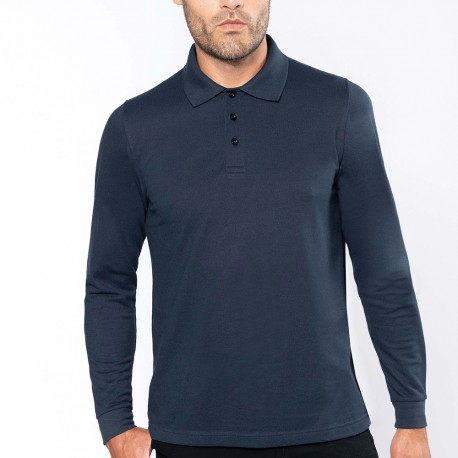 Polo manches longues homme kariban
