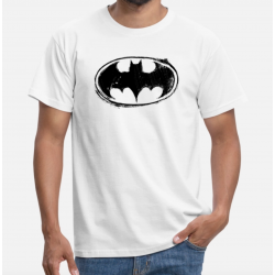 TSHIRT HOMME - Batman Logo black retro
