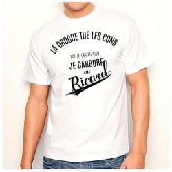 T-shirt homme - LA drogue tue les con.....