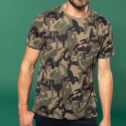 T-shirt camouflage manches courtes homme