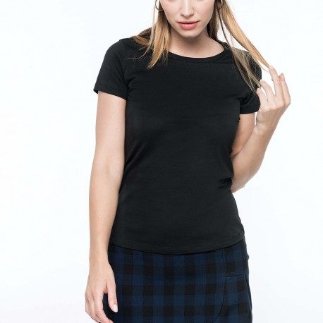 T-shirt Supima® col rond manches courtes femme 160 g/m²